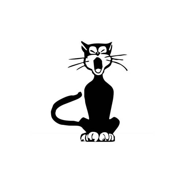 Sticker Miaou le chat via izideal.fr