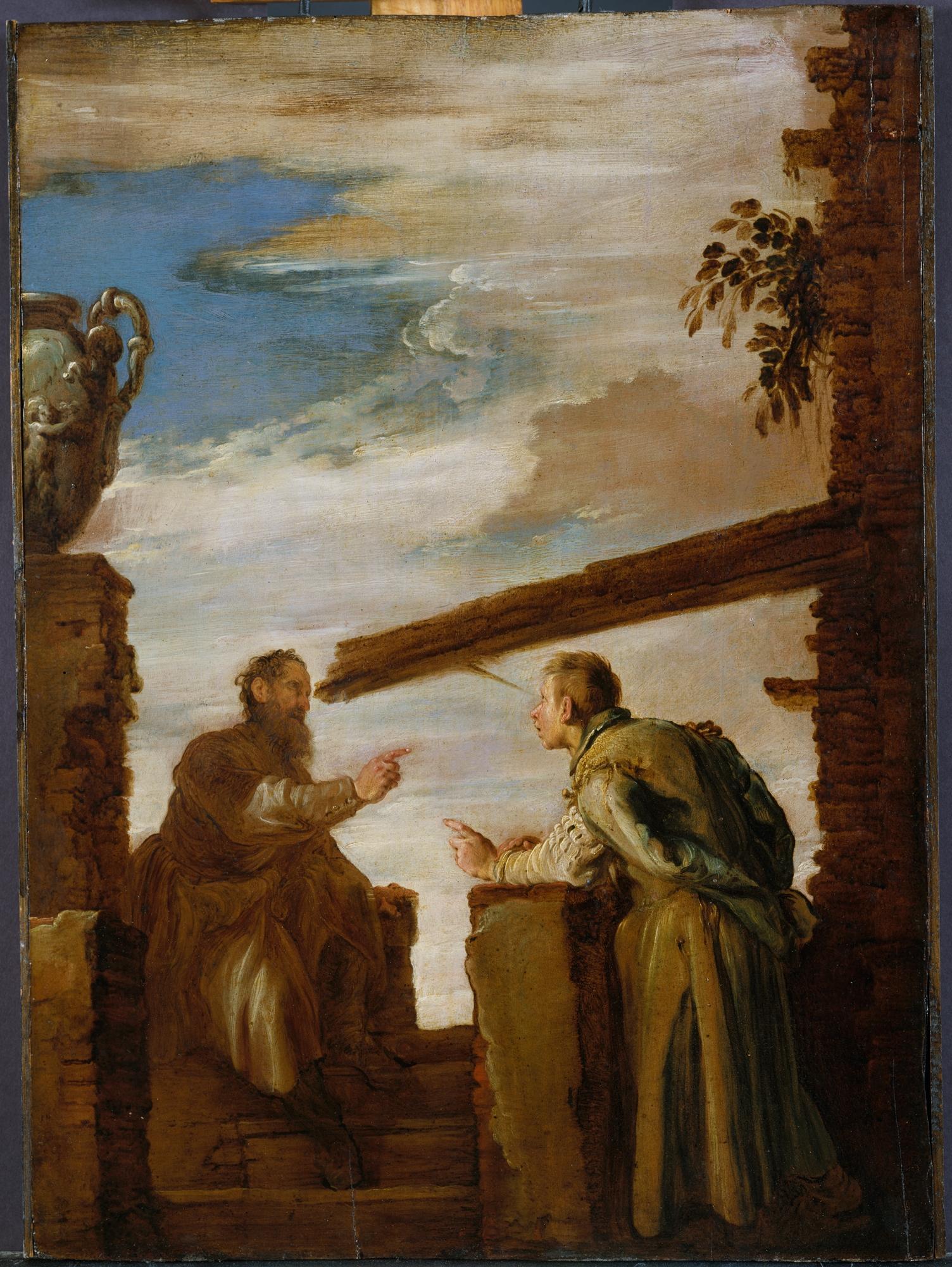 La paille et la poutre par Domenico Fetti via fr.wikipedia.org