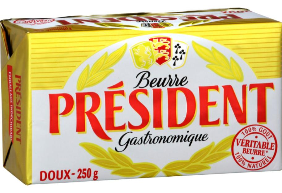 Beurre gastronomique Président via www.carrefour.fr