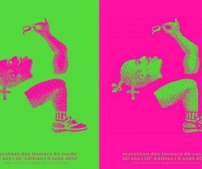 L'affiche du marathon par Philippe Brandon